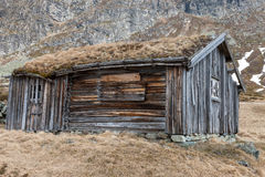 Small building in Norway mountain Royalty Free Stock Photography