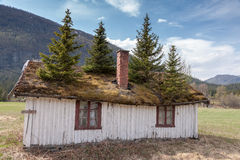 Small building in Norway mountain Stock Photography