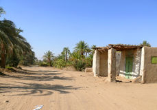 Small building in the Sahara desert. Stock Photography