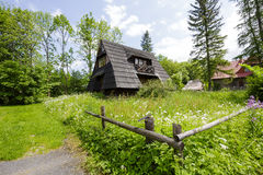 Small building with the sloping roofs, Zakopane Royalty Free Stock Photos