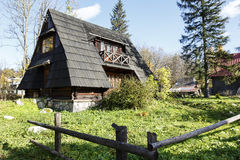 Small building with the sloping roofs, Zakopane Stock Images