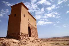 Small building on top of Ait Benhaddou Stock Images