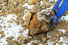 Small bulldozer excavator. Royalty Free Stock Photo
