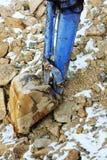 Small bulldozer excavator. Stock Image