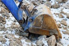Small bulldozer excavator. Stock Photography