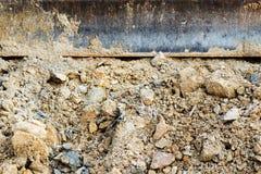 Small bulldozer excavator. Royalty Free Stock Image