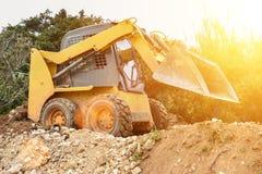 Small bulldozer. Sunny Stock Image