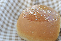 Small bun with sesame seeds Royalty Free Stock Photo