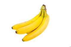 Small Bunch of Bananas Isolated on White Royalty Free Stock Images