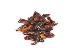Small bunch of chili peppers Stock Images