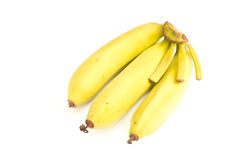 Small bunch of yellow bananas Royalty Free Stock Photo