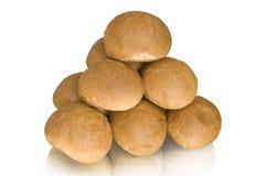 Small buns. On a white background stock photos