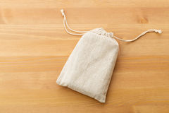 Small burlap bag Royalty Free Stock Photo