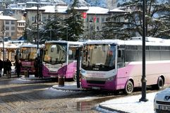 Small buses in Kastamonu - Turkey Royalty Free Stock Photo