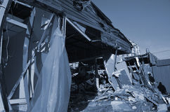 Small busineses destructed and marauded by professional ukrainian patriots Stock Images