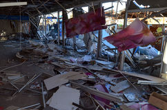 Small busineses destructed and marauded by professional ukrainian patriots Stock Image