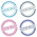 Small business badge isolated on white background. Flat style round label with text. Circular emblem vector illustration Stock Photography