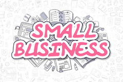 Small Business - Cartoon Magenta Text. Business Concept. Stock Photos