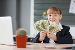 Small business considers money received for a bargain Stock Images