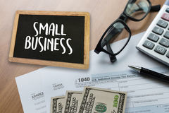 Small business displayed Ideas Workshop / Small business concep. T royalty free stock photography