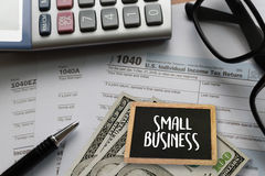 Small business displayed Ideas Workshop / Small business concep. T stock image