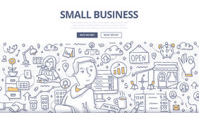 Small Business Doodle Concept royalty free illustration