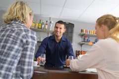 Business food people and service concept stock photo