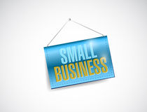 Small business hanging banner. Illustration design over white Stock Photography
