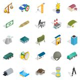 Small business icons set, isometric style. Small business icons set. Isometric set of 25 small business vector icons for web isolated on white background Royalty Free Stock Photography