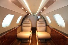 Small business jet cabin Rear Royalty Free Stock Images
