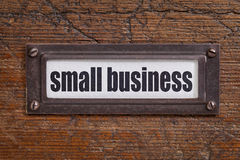 Small business label Royalty Free Stock Photo