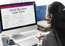 Small Business Loan Form Tax Credits Niche Concept. Small Business Loan Form Tax Credits Niche royalty free stock photo