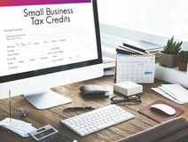 Small Business Loan Form Tax Credits Niche Concept. Small Business Loan Form Tax Credits Niche Work Place royalty free stock photos