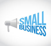 small business megaphone sign concept Stock Photos