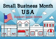 Small Business Month, USA, Support Local Stores Stock Image