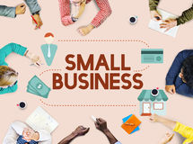 Small Business Niche Market Products Ownership Entrepreneur Conc. People Discuss Small Business Market Products Ownership Entrepreneur Stock Photo