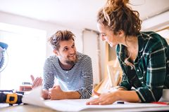 Free Small Business Of A Young Couple. Royalty Free Stock Photos - 105252178
