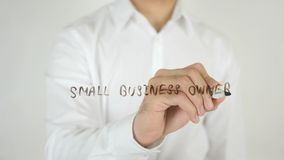 Small Business Owner, Written on Glass. High quality Royalty Free Stock Photography