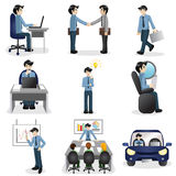 Small business people icons in different situation Stock Photo