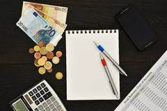 Small business planning concept background Stock Photography