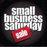 Small Business Saturday layered type design Royalty Free Stock Photos