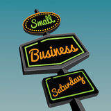 Small Business Saturday road sign design Royalty Free Stock Images