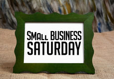 Small Business Saturday wrriten On Chalkboard Royalty Free Stock Photo
