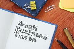 Free Small Business Taxes Is Shown On The Conceptual Business Photo Stock Image - 181952481
