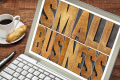 Small business in wood type Royalty Free Stock Images