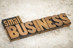 Small business in wood type Royalty Free Stock Image