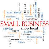 Small Business Word Cloud Concept Stock Image