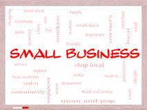 Small Business Word Cloud Concept on a Whiteboard Stock Images