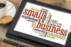 Small business word cloud Stock Image