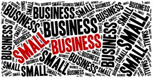 Small business. Word cloud illustration entrepreneurship related Royalty Free Stock Image